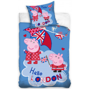 Detské posteľné obliečky s motívom rozprávky prasiatko Peppa