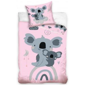 Roztomilé detské posteľné obliečky ružovej farby
