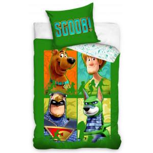 Zelené bavlnené obliečky s motívom Scooby Doo