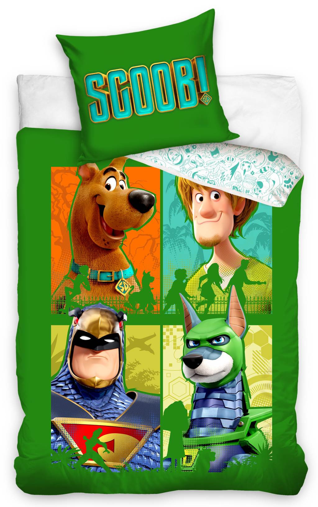 DomTextilu Zelené bavlnené obliečky s motívom Scooby Doo 70x90 cm 26057-150496