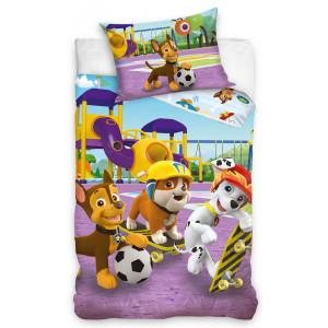 Rozprávkové posteľné obliečky PAW PATROL fialovej farby