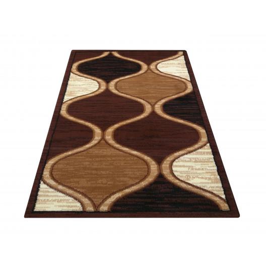 Elegantný koberec v odtieňoch hnedej
