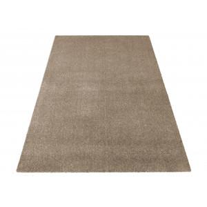 Béžový jednofarebný koberec