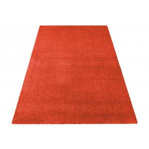 Oranžový jednofarebný koberec