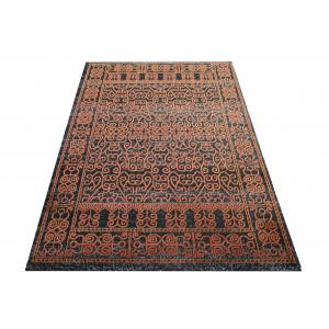 Vzorovaný koberec oranžový