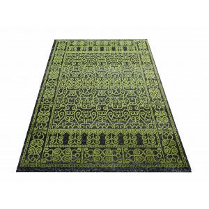 Vzorovaný koberec zelený