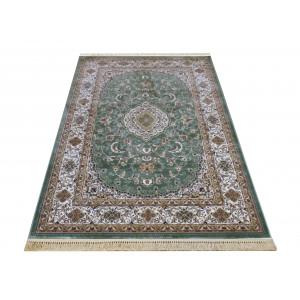 Zelený koberec vo vintage štýle