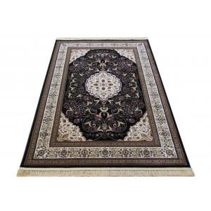 Čierny vintage koberec