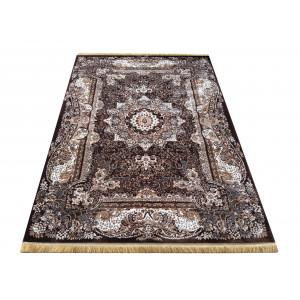 Hnedý vintage koberec s mandalou