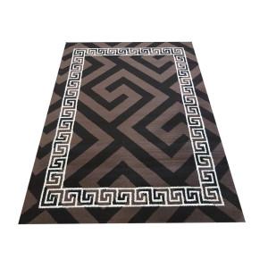 Štýlový koberec do každej izby v hnedej farbe