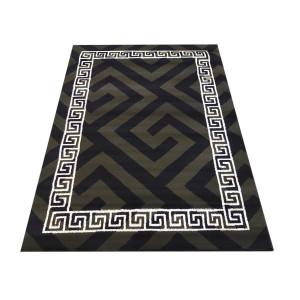 Štýlový koberec do každej izby v khaki farbe