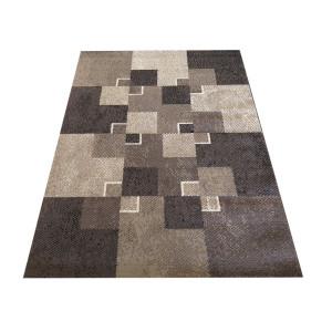Trendy koberec s kockami hnedej farby