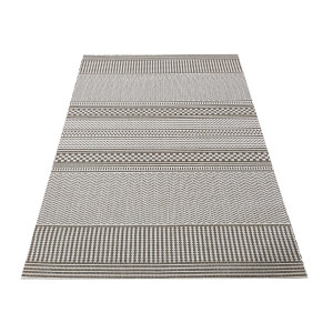 Štýlový obojstranný koberec v coffee farbe