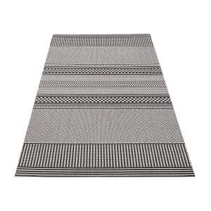 Štýlový obojstranný koberec v sivej farbe
