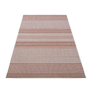 Štýlový koberec v teplej oranžovej farbe
