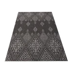 Štýlový obostranný koberec v odtieni čiernej