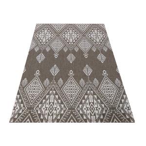 Štýlový obojstranný koberec v odtieni coffee