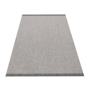 Univerzálny obojstranný koberec v sivej farbe
