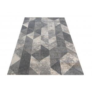 SIvý koberec s moderným vzorom