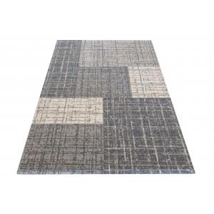 Univerzálny moderný koberec sivej farby