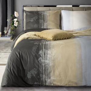 Elegantné posteľné obliečky v hnedej farbe