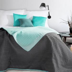 Prešívaný obojstranný prehoz na posteľ