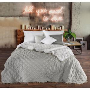 Obojstranný prehoz na posteľ s jemným prešívaním