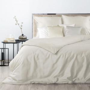 Kremové obojstranné posteľné obliečky so zapínaním na zips