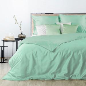 Hebké obojstranné posteľné obliečky mätovo zelenej farby