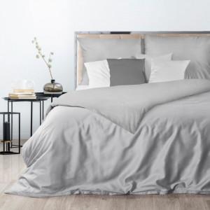 Exkluzívne strieborné posteľné obliečky z bavlneného saténu