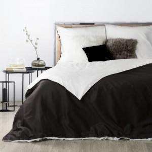 Luxusné čierno biele posteľné obliečky v obojstrannom prevedení