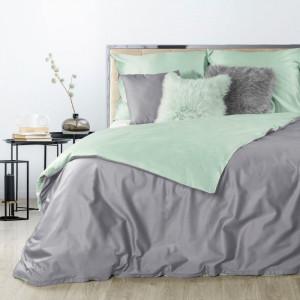 Dvojfarebné kvalitné posteľné obliečky z bavlneného saténu
