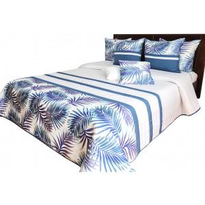 Moderný prehoz do spálne s motívom farebnýh listov
