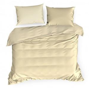 Béžové luxusné posteľné obliečky z bavlneného saténu