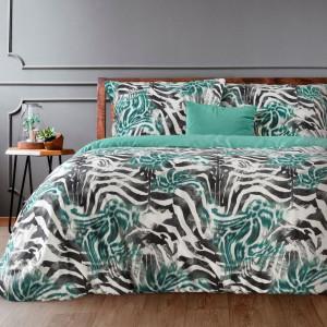 Moderné bavlnené posteľné obliečky zelenej farby