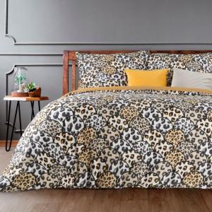 Originálne posteľné obliečky s leopardím vzorom béžovej farby