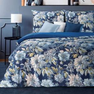 Kvetinová posteľná bielizeň z bavlneného saténu