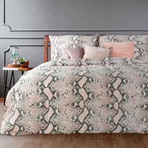 Kvalitné posteľné obliečky z bavlneného saténu ružovej farby