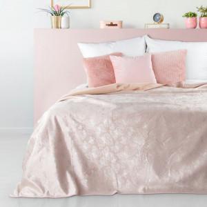 Púdrovo ružový prehoz s potlačou motýlikov VELVET