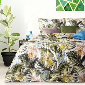 Nádherné kvetinové posteľné obliečky z bavlneného saténu