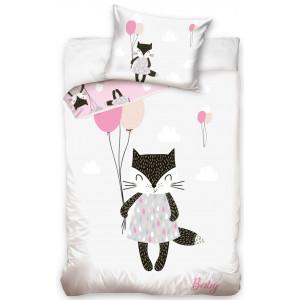 Detské bavlnené posteľné obliečky s roztomilým zvieratkom