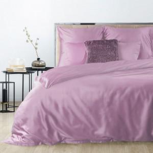 Kvalitné saténové posteľné obliečky tmavo ružovej farby