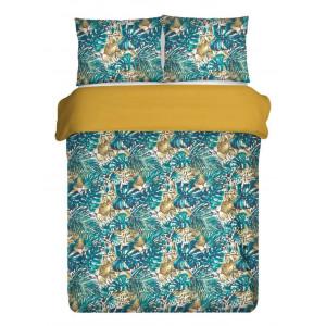 Moderné pestrofarebné posteľné obliečky s exotickým motívom