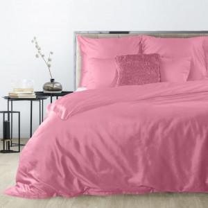 Ružové obojstranné obliečky s bavlneného saténu