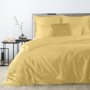 Exkluzívne obojstranné posteľné obliečky žltej farby