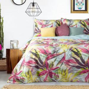 Saténové farebné posteľné obliečky z bavlny