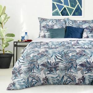 Bavlnené posteľné obliečky s farebným rastlinným motívom