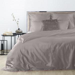 Sivé obojstranné posteľné obliečky z bavlneného saténu