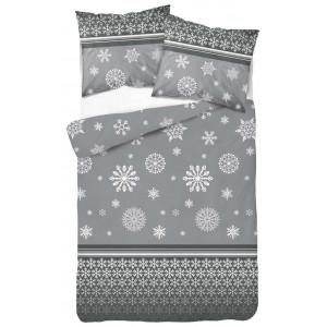 Posteľné obliečky na vianoce s motívom snehových vločiek
