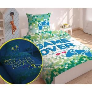 Pestrofarebné svietiace posteľné obliečky z bavlny